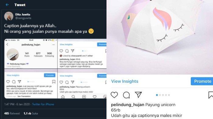 Viral Jual Payung Dengan Caption Unik Gunakan Puisi Galau Hingga Kalimat Nyeleneh Ini Kata Penjual Halaman All Tribunnews Com Mobile