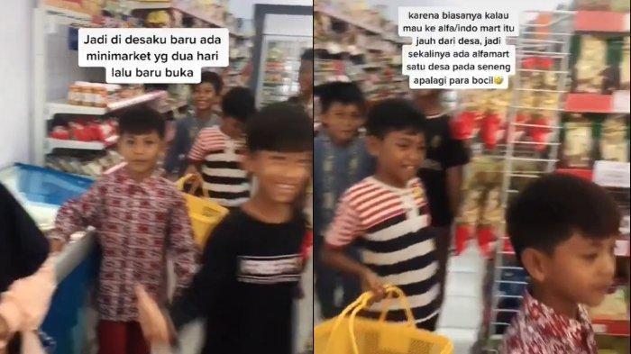 Viral cerita para bocah merasa kegirangan karena ada minimarket pertama di desa yang baru buka.