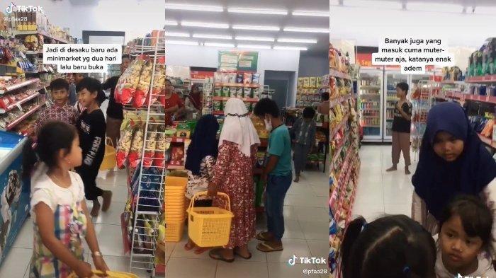 VIRAL Minimarket Pertama di Desa Ini, Bocah-bocah Kegirangan hingga Ada yang Numpang Ngadem