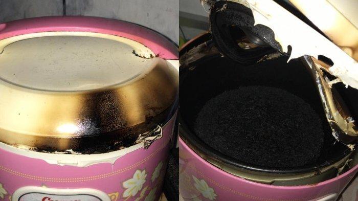 Viral cerita warganet memasak nasi di rice cooker sampai gosong 2