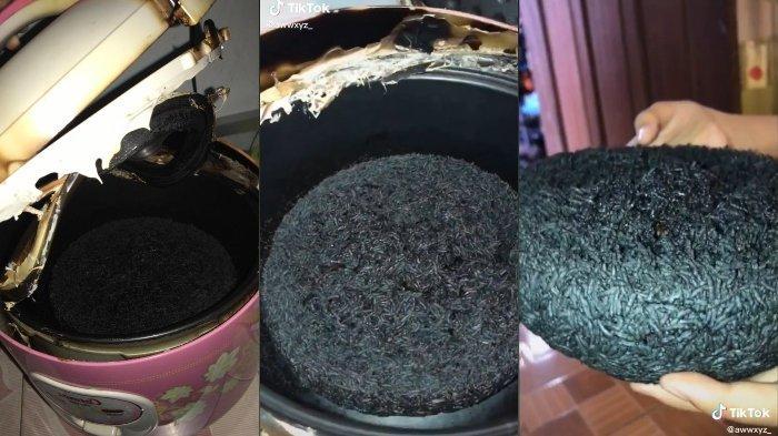 Viral di TikTok Masak Nasi hingga Gosong, Pengunggah Bersyukur Rumahnya Tak Ikut Terbakar