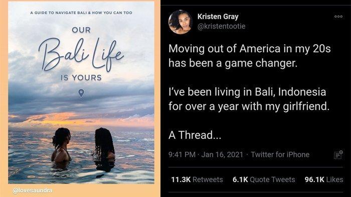 Viral Kristen Gray Ajak Bule Pindah ke Bali, Ini Penjelasan Pihak Imigrasi