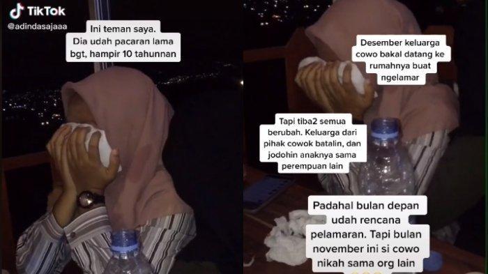 Tangis Nur ditinggal nikah kekasih yang sudah dipacarinya selama 10 tahun lamanya