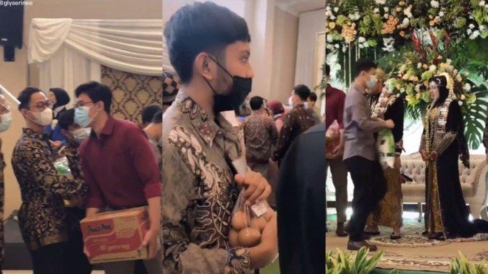 Viral Aksi Sejumlah Pria Bawa Sembako saat Menghadiri Acara Pernikahan Teman, Ini Kisahnya