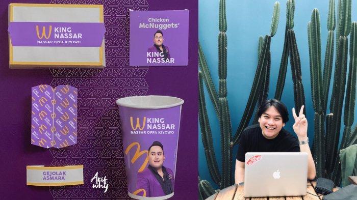 Viral di media sosial, desain parodi BTS Meal pakai foto pedangdut Nassar