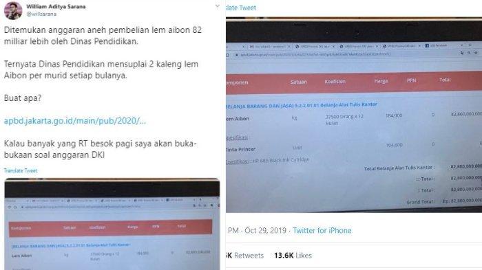 Viral di Media Sosial soal Anggaran Lem Aibon Rp 82,8 Miliar, Begini Klarifikasi Disdik DKI