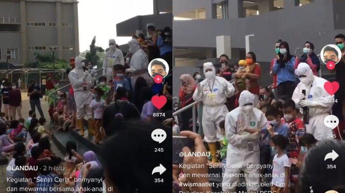 Viral di Tiktok, aktivitas pasien anak covid-19 di Wisma Atlet