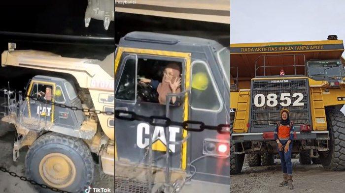 VIRAL Kisah Wanita Jadi Sopir Dump Truck Tambang, Orang Tua Sempat Khawatir soal Keselamatan