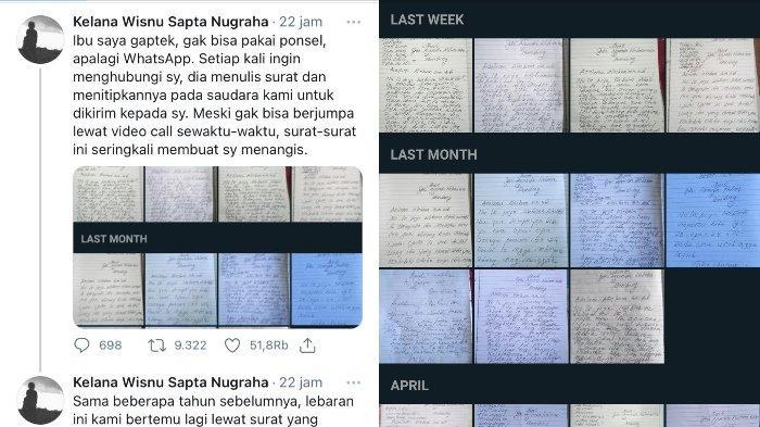 Tak Bisa Pakai Ponsel, Kisah Haru Ibu yang Rutin Kirim Surat kepada Anaknya Viral di Twitter