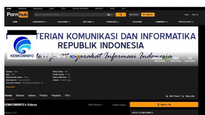 Bantah Punya Akun di Situs Pornhub, Kominfo Ingatkan Penyebar Konten Porno Bisa Didenda Rp 1 Miliar