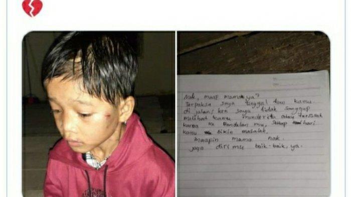 Orang Tua Diduga Sengaja Buang Anak di Jalan, Disertai dengan Surat: Nak, Maafkan Mamak Ya