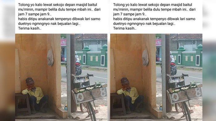 Viral Foto Kakek Penjual Tempe Jadi Korban Penipuan, Uang Rp 20 Ribu Dibawa Kabur Orang