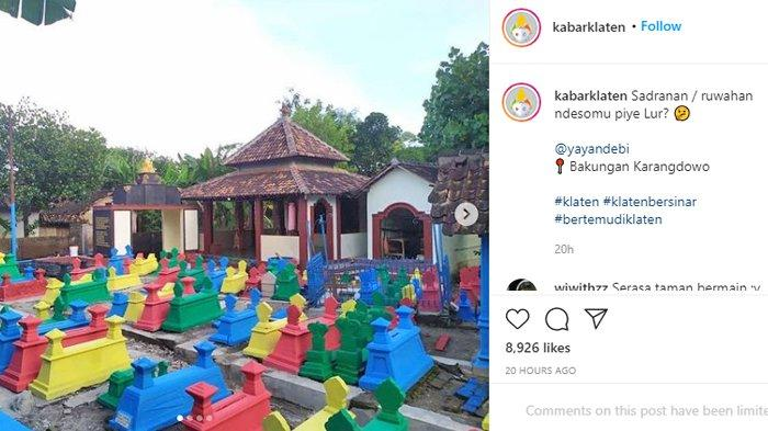 Viral Foto Makam di Klaten Dicat Warna-Wani, Warga Beri Pengakuan, Ternyata Aksi Spontanitas