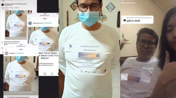 Viral, Pria Ini Sablon Sertifikat Vaksin Miliknya di Baju, Belum Pernah Dipakai untuk Bepergian
