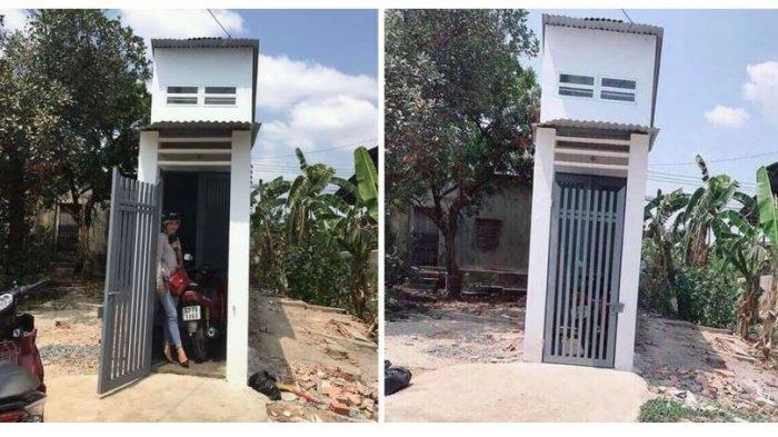 Viral Foto Wanita Memamerkan Rumah Kecil Unik Yang Dibangun Di Atas Tanah Sempit Intip Isi Dalamnya Tribunnews Com Mobile
