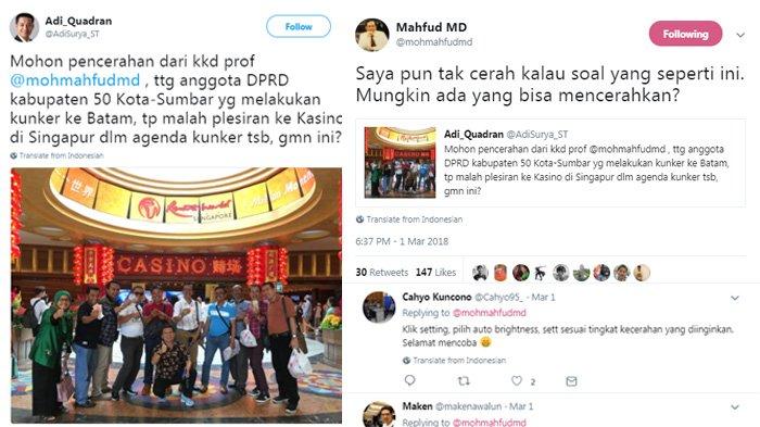 Komentar Mahfud MD dan Klarifikasi Soal Foto Anggota DPRD Pegang Uang di Depan Kasino