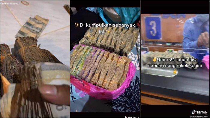 Viral di media sosial, hasil tabungan dari berhenti merokok, pria asal Pontianak ini bisa kumpulkan uang lebih dari Rp 10 Juta. Berikut ceritanya.