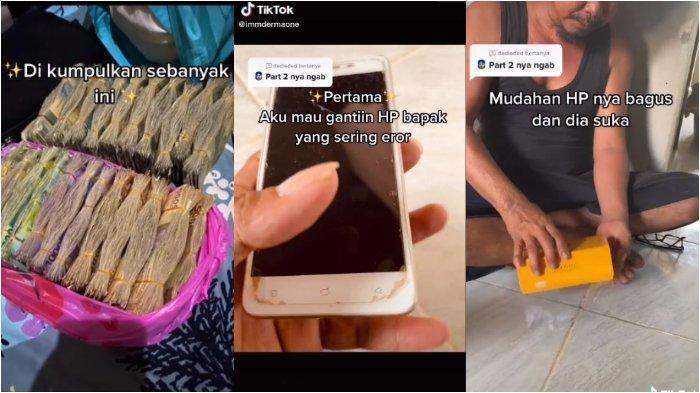 Viral di media sosial, hasil tabungan dari berhenti merokok, pria ini bisa kumpulkan uang Rp 10 Juta lebih. Uang dibelikan HP baru untuk sang ayah.