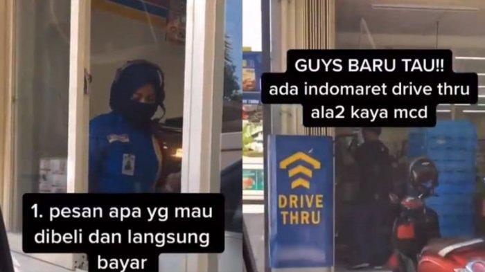 VIRAL Video Belanja di Indomaret Drive Thru, Pengunggah: Memudahkan Banget