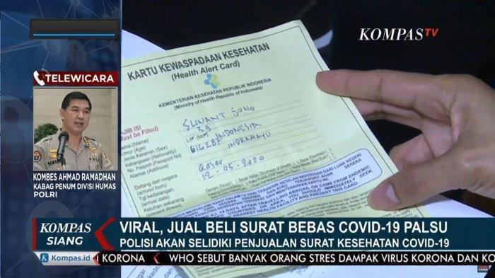 Di Gilimanuk Bali, Surat Keterangan Sehat Bebas Corona Palsu Dijual Rp 100-300 Ribu