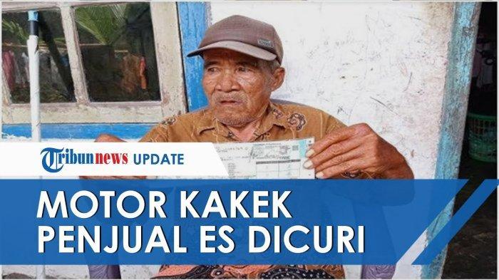 Viral Kakek Tua Penjual Es Krim Kehilangan Motornya, Diambil Pembeli, Pelaku Malah Lambaikan Tangan