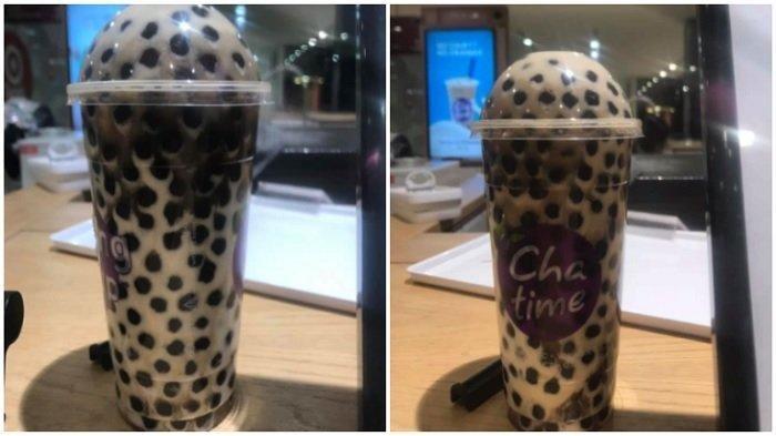 Viral Karyawan Toko Chatime Pamer Minuman Gratis Penuh Boba, Ini Minum Teh atau Makan Boba?