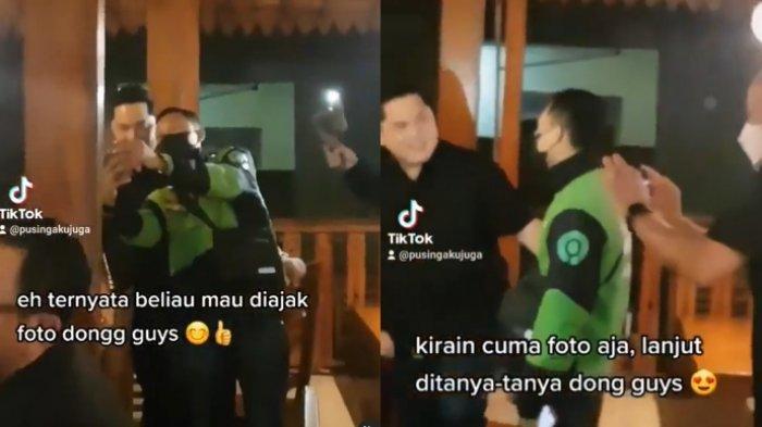 Viral kekaguman warganet saat tidak sengaja bertemu Menteri BUMN Erick Thohir 1