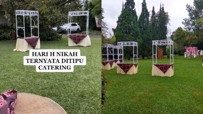 Berikut kisah lengkap viral sepasang pengantin diduga kena tipu jasa katering acara, para tamu undangan nyaris tak dapat makanan.