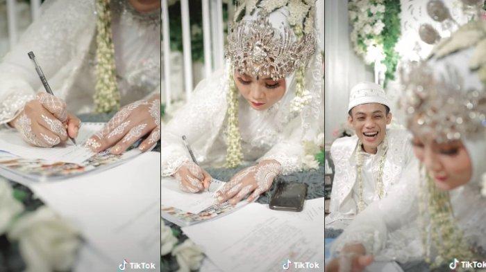 Viral kisah pengantin langsung ujian online setelah akad nikah, videonya sampai ditonton 22 juta kali. Begini cerita lengkapnya.