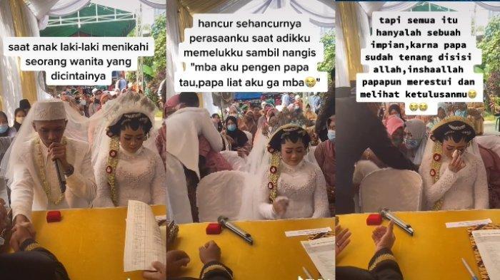 Viral kisah pengantin pria yang menangis setelah akad nikah, rupanya teringat mendiang ayahnya yang tak bisa saksikan hari bahagianya.