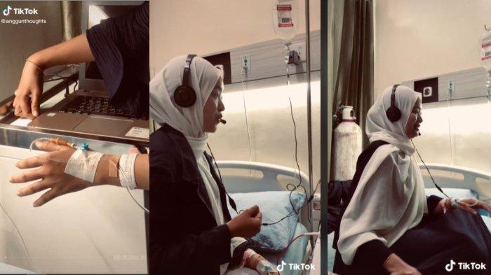 VIRAL Wanita Gelar Sidang Skripsi meski Sedang Dirawat di RS, Sosoknya Tuai Dukungan & Doa