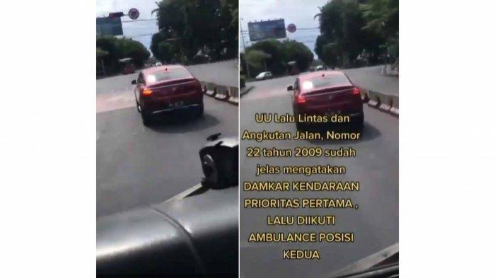 Akui Tak Sengaja, Pengemudi Mercy yang Halangi Mobil Damkar di Bali Panik Dengar Sirine dan Teriakan