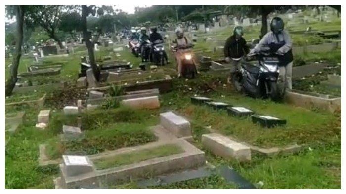 Pengakuan Perekam Video Viral Motor Terabas Area Tengah Kuburan: Penjaga Makam Sudah Mengingatkan