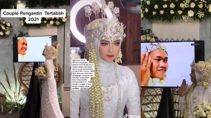 Viral Kisah Pengantin Gelar Pernikahan Virtual, Videonya Ditonton 3,8 Juta Orang, Terima Banyak Doa