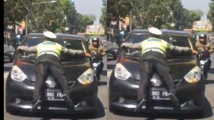 Inilah Sosok Polisi Lalu Lintas yang Diseret di Kap Mobil Sedan Karena Hendak Tilang Pengendara