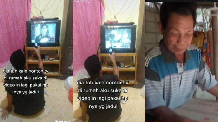Viral pria rekam siaran TV pakai HP jadul, dilakukan demi bisa menonton ulang di rumah.
