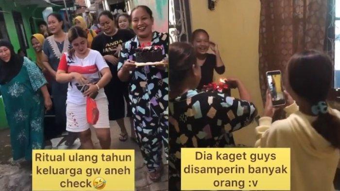 Viral remaja ini diberi kejutan ulang tahun tak terduga oleh para tetangga. Keseruan ulang tahunnya buat warganet ikut senang.