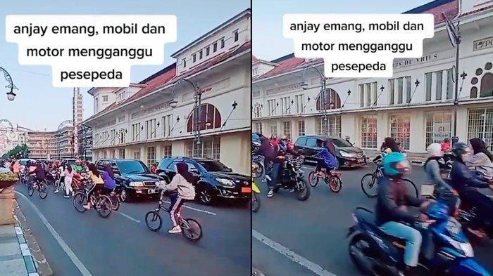 Viral Video Rombongan Sepeda Menantang Maut, Gowes Lawan Arus di Tengah Keramaian Jalan