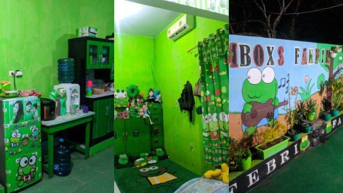 Viral Rumah Unik Bertema Kartun Keroppi, Semua Perabot Warna Hijau, Sempat Dikira Sekolah TK