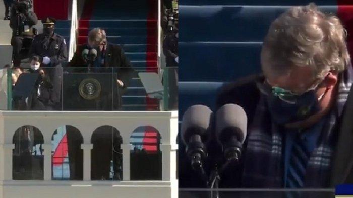 VIRAL saat Pelantikan Joe Biden dan Kamala Harris, Sosok Pria Misterius Berjuluk Sanitizer in Chief
