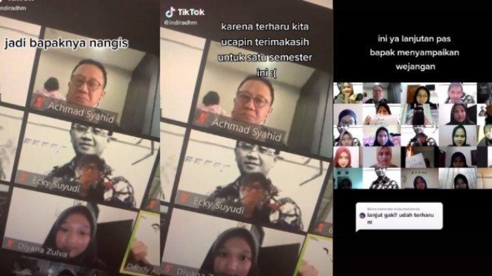 Viral Ucapan Terima Kasih Mahasiswa saat Kuliah Online, Sang Dosen Sampai Menangis Terharu