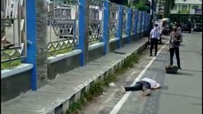 Pria Ini Terjatuh di depan RSUD Abdul Moeloek, Sempat Dikira Tertular Covid-19