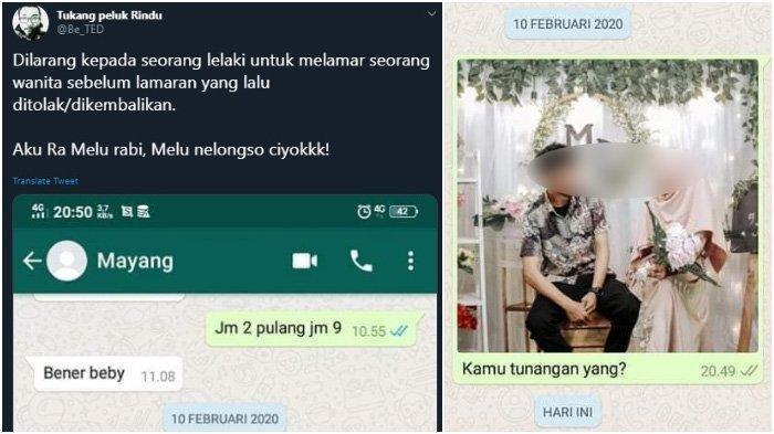 VIRAL Di Twitter Seorang Pria Terkejut Tak Tahu Tunangannya Dilamar Pria Lain: Kamu Diikat 2 Orang