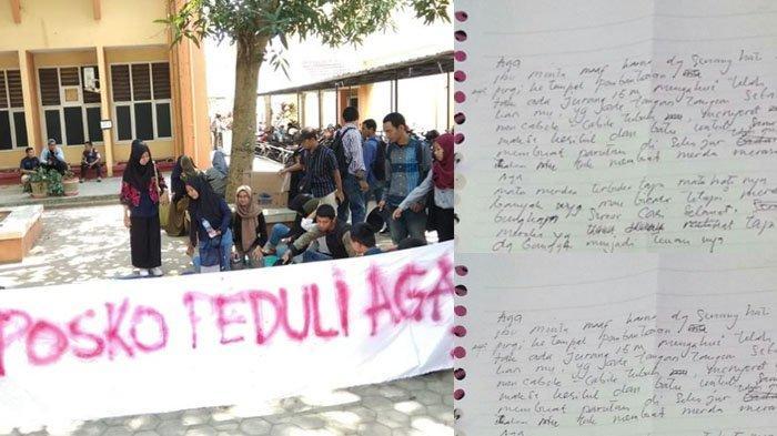 Viral Surat Curahan Hati Ibu dari Aga Trias Tahta, Mahasiswa Unila yang Tewas Saat Diksar