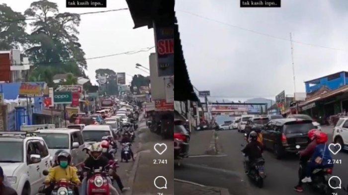 Setelah Puncak Bogor Jadi Sorotan Jokowi, Giliran Kemacetan di Kawasan Wisata Tawangmangu yang Viral