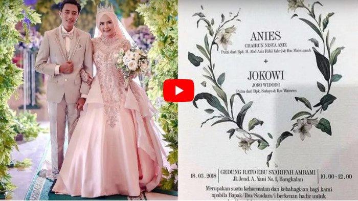 Viral Undangan Pernikahan Pasangan Pengantin Anies-Jokowi di Madura, Ini Kata sang Mempelai