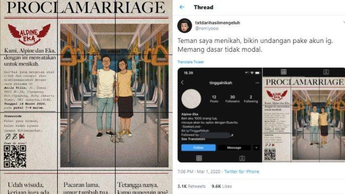 VIRAL Undangan Pernikahan Bergaya Koran dengan Headline 'Plocamarriage' di Instagram