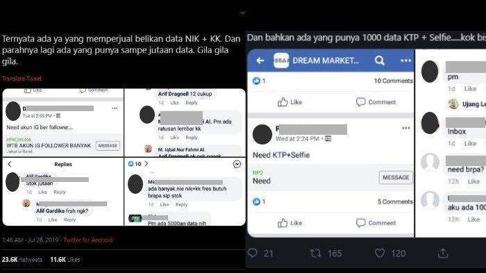 Viral di Media Sosial Data e-KTP dan KK Warga Diperjualbelikan Secara Ilegal