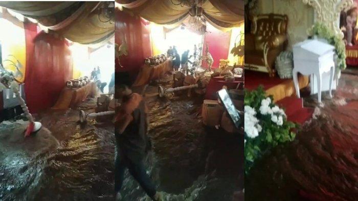 Viral Video Acara Pernikahan Diterjang Banjir akibat Cuaca Buruk, Sudah Mendung saat Akad