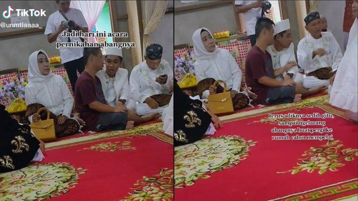 Viral Video Adik Tak Rela Abangnya Menikah, Dibujuk dengan Lembut Supaya Diberi Izin